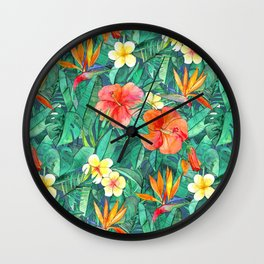 Classic Tropical Garden Wall Clock