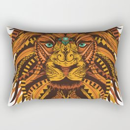 Angry Lion Face texture Rectangular Pillow