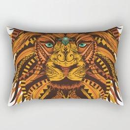Angry Lion Face texture Rectangular Pillow