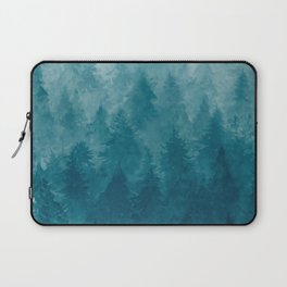 Misty Pine Forest Laptop Sleeve