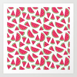 Watermelon Slices Collage Art Print