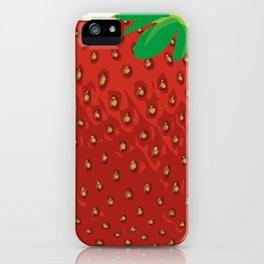 Square Strawberry iPhone Case
