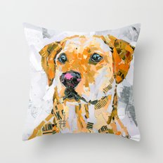 Charlie The Labrador Throw Pillow