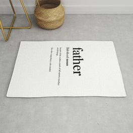 Father Definition Rug