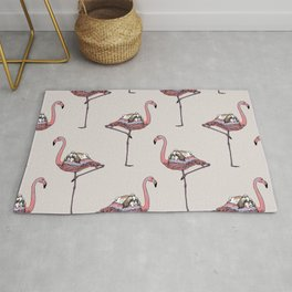 Flamingo and Shih Tzu Rug