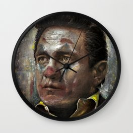Johnny Cash Joker Wall Clock