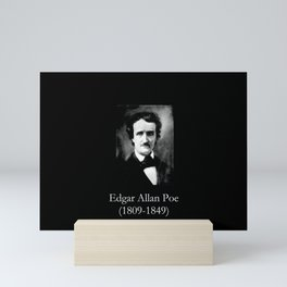 Portrait of Edgar Allan Poe Mini Art Print
