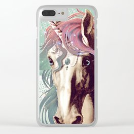 Unicorns live forever Clear iPhone Case