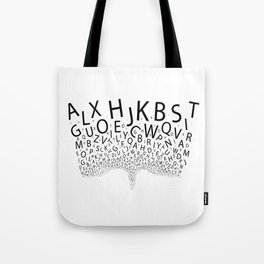 Spouting Letters Tote Bag