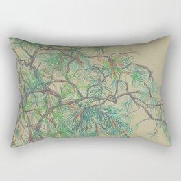 Pine-Tree Branch in Green Shades Rectangular Pillow