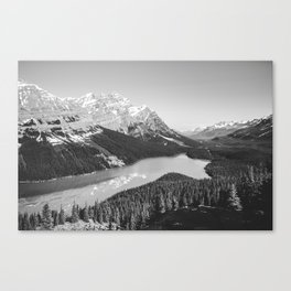Landscape Photography Peyto Lake | Black and white Canvas Print