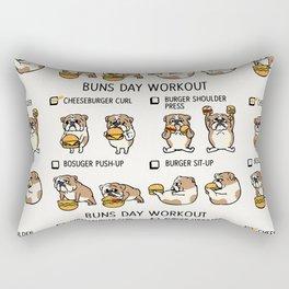 Buns Day Workout Rectangular Pillow