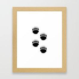 Black Bear Paw Prints Framed Art Print