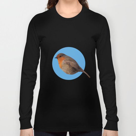 Autumn's Robin just blue Long Sleeve T-shirt