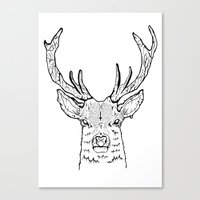 stag Canvas Prints featuring STAG by ALFIE creative design