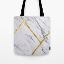 Golden classic marble Tote Bag