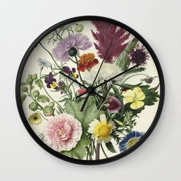 Bouquet of flowers, anonymous, 1680 Wall Clock