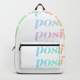 Positivity Rainbow Gradient #pastel Backpack