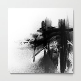 XA 009 - Abstract Monochrome Metal Print