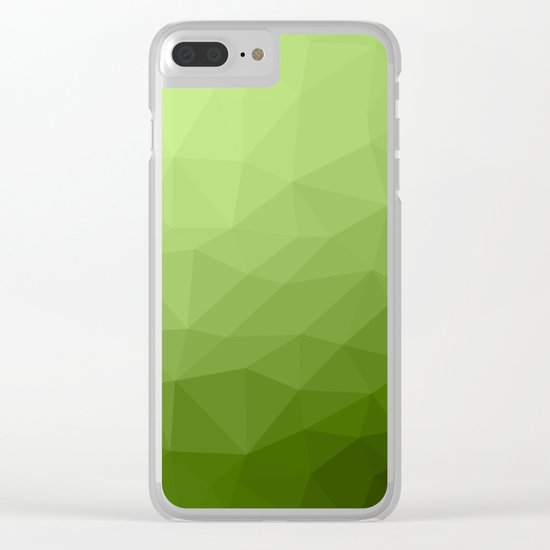Greenery ombre gradient geometric mesh Clear iPhone Case
