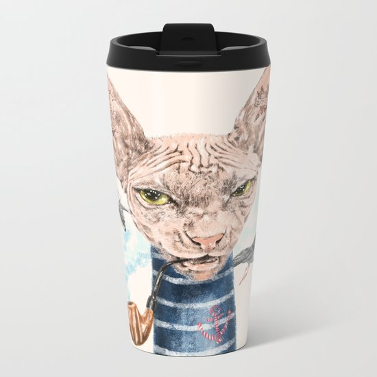 Sphynx Cat II Metal Travel Mug