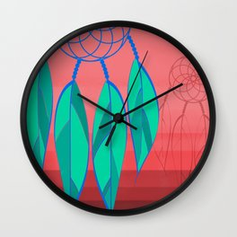 Dream Catcher in Pink Wall Clock