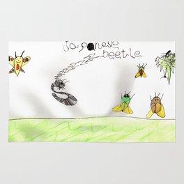 Japanese Beetle Life Cycle Rug
