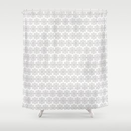 WHITE SUMMER Shower Curtain