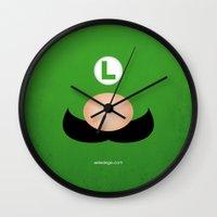 luigi Wall Clocks featuring LUIGI by Alberto Lamote de Grignon