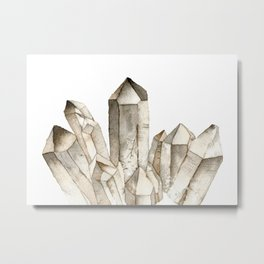 Smokey Quartz Metal Print