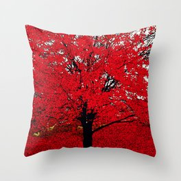 TREE RED Throw Pillow