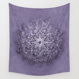 Vintage Lavender Watercolor Mandala Wall Tapestry