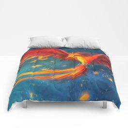Beautiful phoenix Comforters