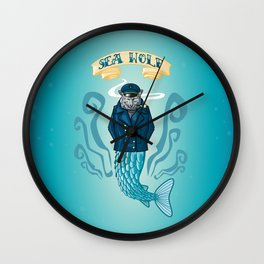 Sea Wolf Wall Clock