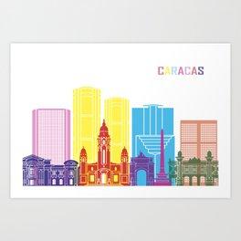 Caracas skyline pop Art Print
