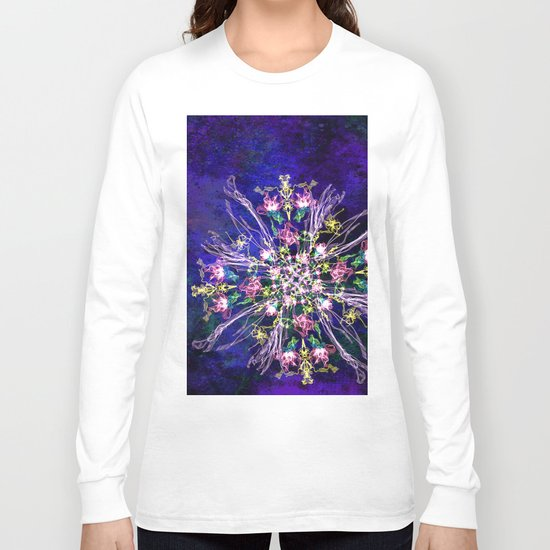 Abstract delicate silk flowers Long Sleeve T-shirt