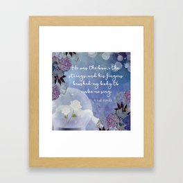 He Was The Bow, I The Strings Framed Art Print
