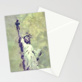 Textured Statue of Liberty Stationery Cards