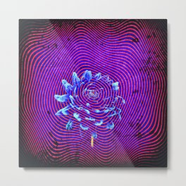 Moire Bloom By Brandon Babic and Saturn Kat Metal Print