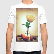 White Rose. Mens Fitted Tee White MEDIUM