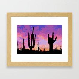 Signs seen in the Desert  Framed Art Print