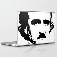 edgar allan poe Laptop & iPad Skins featuring edgar allan poe by b & c