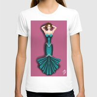 teal T-shirts featuring Teal  by Woofer