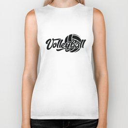 Volleyball Gift Biker Tank