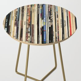 Classic Rock Vinyl Records Side Table
