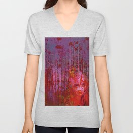 The clearing of the bloodthirsty witch Unisex V-Neck