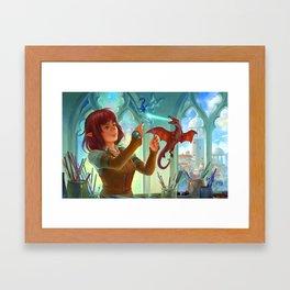 The Glass Sculptor Framed Art Print