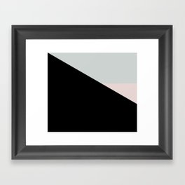 Pastel Triangle Black Based /// www.pencilmeinstationery.com Framed Art Print