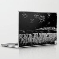 fireworks Laptop & iPad Skins featuring Fireworks by Mr.Willow
