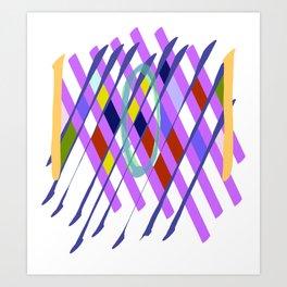 Abstract Checkboard Art Print